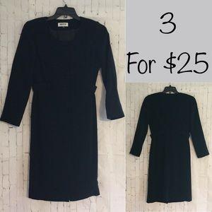 Kasper black business dress 4 petite